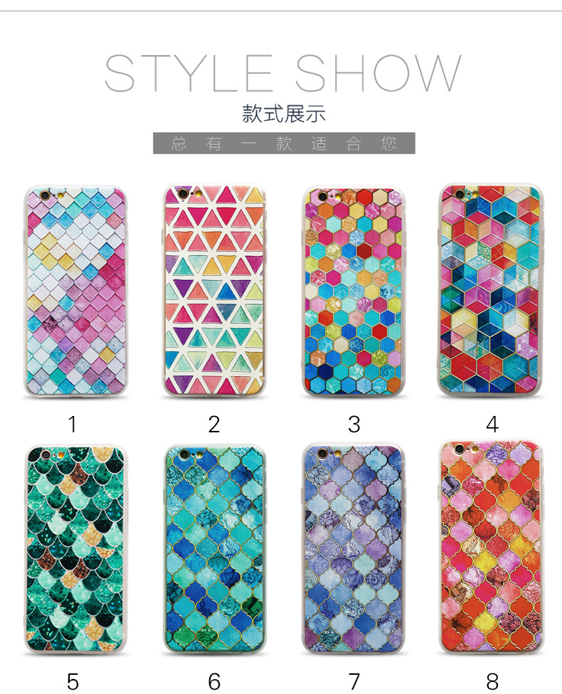 New 3D relief cover two-in-one painted soft hard shell TPU+PC cell phone case for iphone 6 6s 6plus 6s plus for iphone 7 7 plus