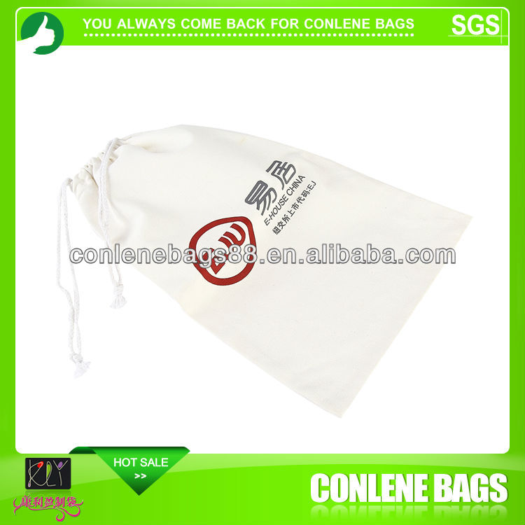 High quality of foldable cotton drawstring bags