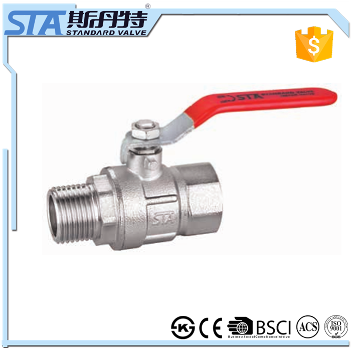 ART.1028 Full Bore Forged Brass Water Ball Valve Female/Male BSPP Threaded Screwed End CE ACS ball valve 2pc Control Ball Valve