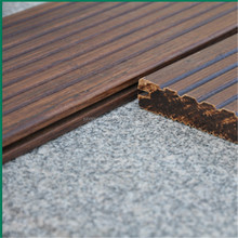 Fine price big groove pattern Bamboo Outdoor Decking Flooring covering