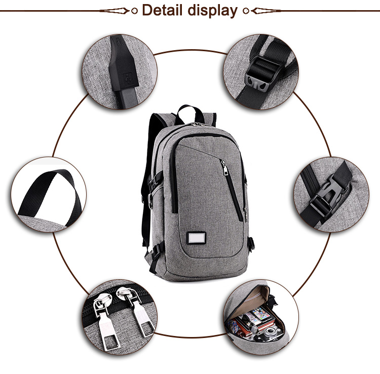 Cheap Price Trendy Sport Outdoor School Durable Usb Charging recycled polyester Backpack Anti-theft Bag