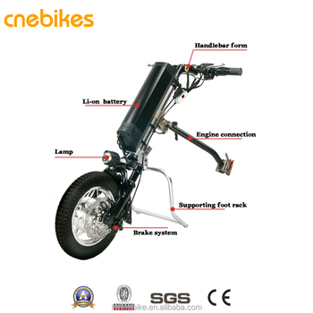 Medical electric wheelchair attachment ,in wheel motor wheelchair handcycle with battery