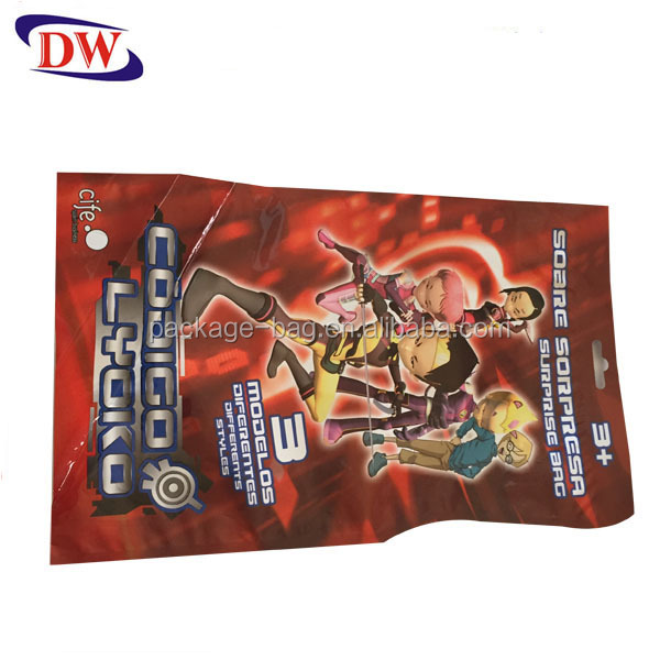aluminum foil custom shape plastic bag for toy packaging