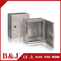 B&J IP66 Waterproof Metal Stainless Steel Enclosures Customized Size Junction Box