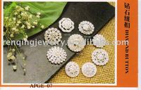fashion alloy rhinestone buttons in 2011