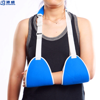 Medical orthopedic colored arm support brace sling with belt
