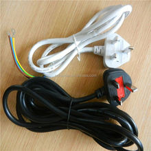 UK female power cord ends power cord with rotary switch