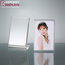 Memorable photo and picture frame acrylic counter display stand display sign