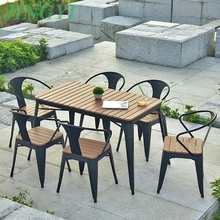 hd designs outdoor furniture 6+1 dining table and chair B124