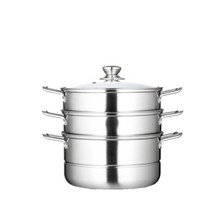 2-layer Stainless Steel Steamer Pot / Stock Pot For Cookware 28cm