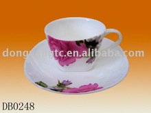 Wholesale porcelain plain white coffee cups and saucers
