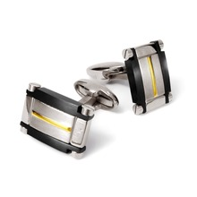 Black and Silver New Design Jewelry Pure Titanium Men Cufflinks