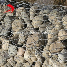 Anping factory Cheap price Galvanized Hexagonal Gabion Box / Stone Cage Wire Mesh