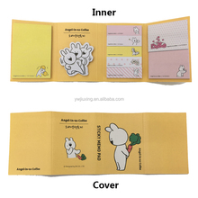 Lovely cute cartoon sticky notes with soft cover giveaways