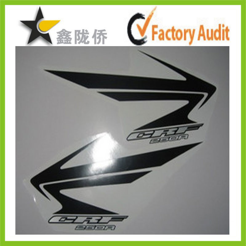 Golden supplier UV waterproof vinyl motorcycle fuel tank stickers , dirt bike fuel tank stickers