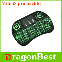 2017 Factory price Mini i8 Pro air mouse backlit designed for Android system with CE&ISO 2.4ghz wireless keyboard