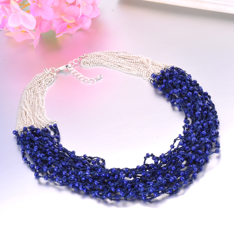 Cheap Seed Bead With Colour Coating Necklace