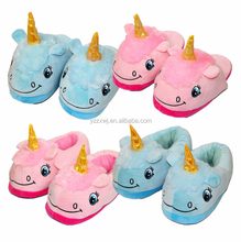 free sample unicorn slipper for children plush unicorn slippers plush animal slippers for women