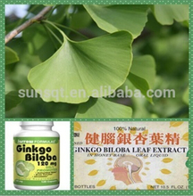 Natural Ginkgo Biloba Leaf Extract Ginkgo flavone glycosides 24%/6% , Ginkgo Biloba Extract