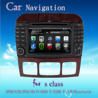 In-dash car dvd player with 3g wifi ipod rds for Mercedes S Class