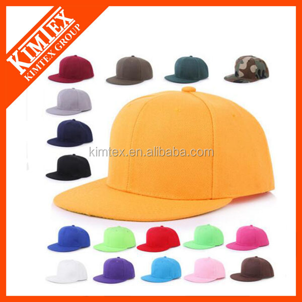 China supplier factory price urban casual 6 panel plain fitted snapback cap/<strong>flat</strong> bill cap for promotional gift