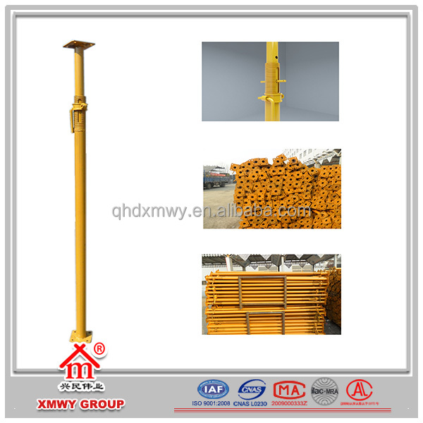 Adjustable Upright Scaffolding Post Shore / Galvanized Scaffolding Telescopic Post