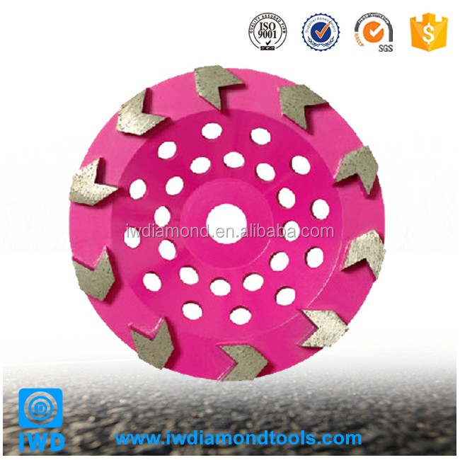 Best Sale diamond arrow shape grinding cup wheel for marble