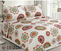 Quilts wholesale microfiber or cotton fabric polycotton/polyester/cotton filling quilting bedding set