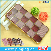 Alibaba Express Wholesale Small Waistline Lattice Pattern Painted Electroplating TPU Case For Apple 6 Plus iPhone Case