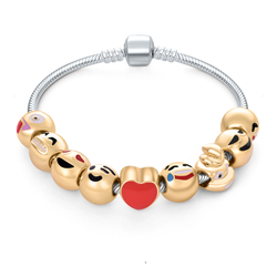 fashion jewelry gold custom emoji charm bracelets for children designs accessories bracelet