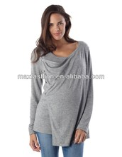 OEM Fashion Maternity Wear long-sleeve Knit Top ,nursing top shirt,New design fashion style wholesale maternity clothes