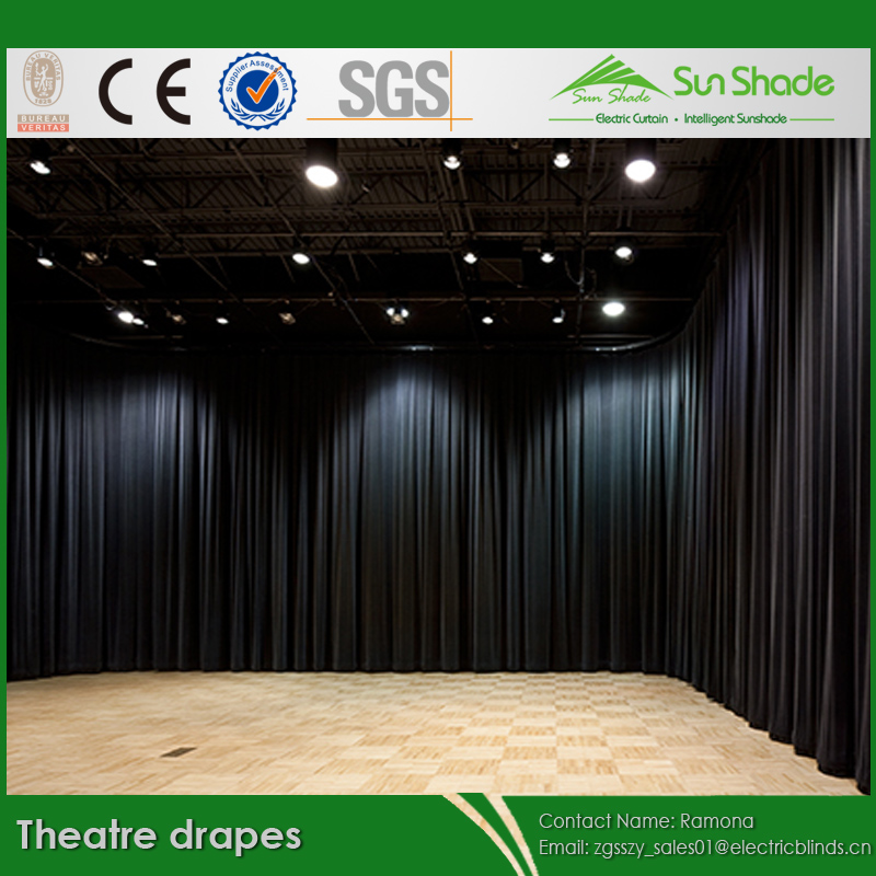Used Theatrical Drapes: Used Black Theatre Drapes/theatre Curtains For Sales