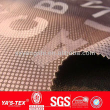 Polyester Stretch Waterproof Jacquard Spandex Fabric For Sportswear