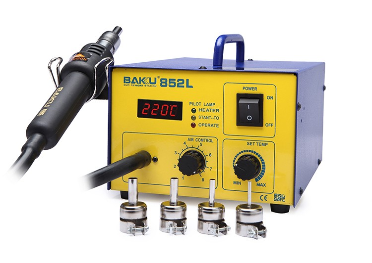 Baku Low Cost 2016 New Design Electric hot air blower gun rework station price BK-852L