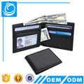 Mens Slim Front Pocket Wallet Carbon Fiber Bifold Wallet RFID Blocking Carbon Fiber Wallet