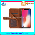 Promotion Flip Wallet with Card Slot Leather Mobile Phone Case for iPhone 8 X