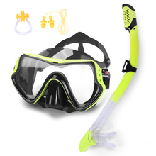 2017 Newest Face Plates Breathing Tube Snorkeling Diving Mask Full Dry Glasses Goggles Anti-fog + Bag with Ear Plug Nose Clip