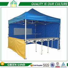 Outdoor ez up canvas canopy tent half wall & folding table