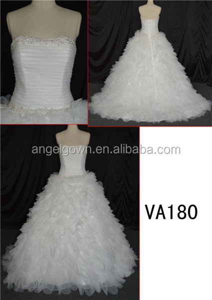 puffy princess ball gown lace vintage backless wedding dress sew on bead