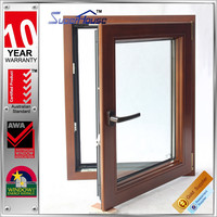 Comply With AAMA Standard aluminium anti-noise side opening window