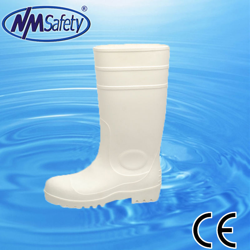 NMSAFETY white pvc safety boots/work boots s5