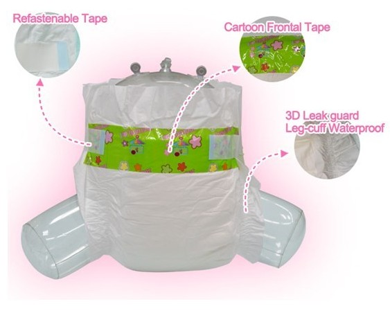 POOWEE baby diapers Grade B super disposable diaper/nappies