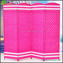 Pink Full Size Decorative outdoor folding screen garden folding screen folding bath screen