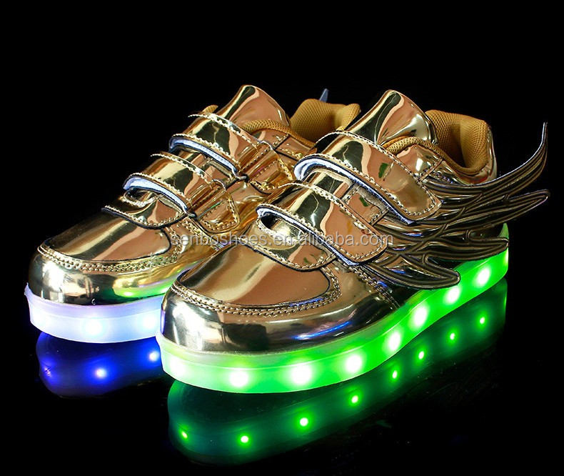 2016 new with Children's shoes metal led light up dance adult lights shoes led shoes for kids