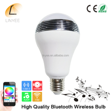 Smart LED Bulb Speaker,Wireless Bluetooth 4.0 Speaker Music LED Play bulb E27 Dimmable RGB RGBW LED Light Bulb