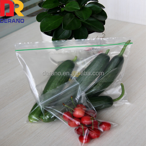 bio degardable cheap zipper bag for vegetable and food