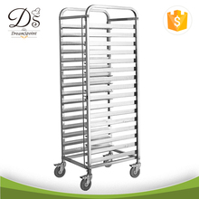 Kitchen Restaurant appliance Stainless steel tray trolley 16 Pan Trolley