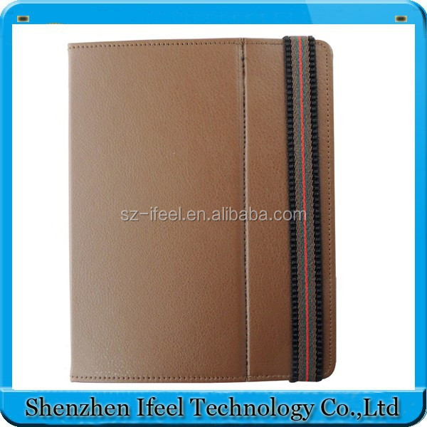"9.7"" android tablet case Magic sticker hook leather case for Android tablet new hot product design"