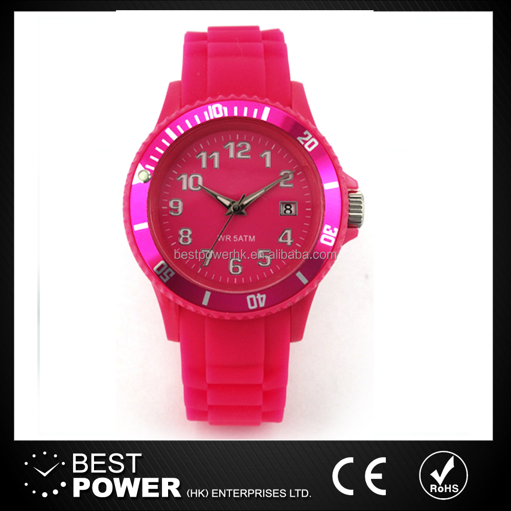 Alibaba hot sale Silicone jelly kids watches