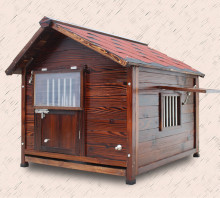 Real Wood Waterproof and Anti-corrosion Dog House on Sale